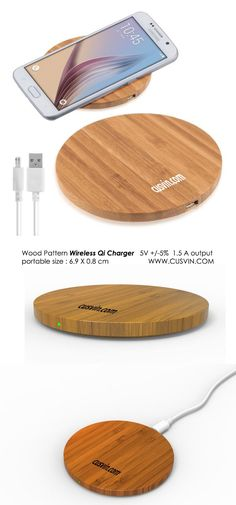 Wood Wireless Charger made out of wood or bamboo body that is eco-friendly QI standard portable size wireless charger supports Mobile Accessories, Desk Accessories, Wood Chargers, Wooden Display Stand, Wood Patterns, Geek Stuff, Entrepreneurship, Industrial Design, Gadget