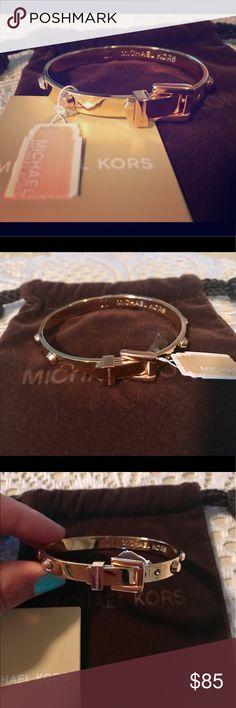 Michael Kors Astor Studded Gold Tone Bangle BRAND NEW Authentic Michael Kors Astor Studded Gold Tone Bangle. Comes with tags and original dust bag! Michael Kors Jewelry Bracelets