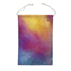 Bag For Gym or Shoes Watercolor Galaxy Stars Purple Blue Pink Yellow Storage Travel Drawstring Pouch Beach Sport Reusable by DesignsBySiena Etsy Watercolor Painting Space Stars Pink Yellow, Purple, Blue, Yellow Storage, Watercolor Galaxy, Drawstring Pouch, Watercolor Paintings, Gym, Sport
