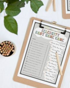 Celebrity Baby Name Game, 15 Entertaining Baby Shower Games via Pretty My Party