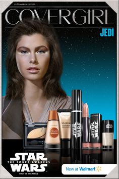 "Click here for the Jedi look from COVERGIRL® and Walmart – just one of 7 made for ""Star Wars: The Force Awakens""! Now available at Walmart or online at CoverGirlStarWars.com! #StarWarsLook"