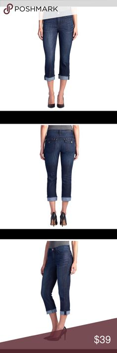 Rock N Republic Studded Capri Jeans size 12 NWT Rock N Republic Studded Capri Jeans.  Kendall Mid Rise Capri style.  Mid rise.  Slim through hip & thigh.  Hits below calf.  Studs on back pockets. Rock & Republic Jeans Ankle & Cropped