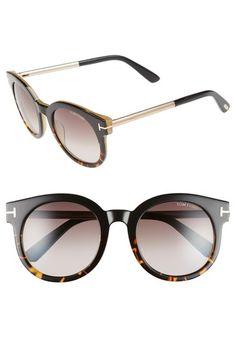 TOM FORD 'Janina' 51mm Round Sunglasses. #tomford #