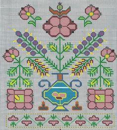 Teşekkürler Güzin Hanım Folk Embroidery, Cross Stitch Embroidery, Embroidery Patterns, Crochet Patterns, Cross Stitch Borders, Cross Stitch Samplers, Cross Stitch Patterns, Palestinian Embroidery, Tapestry Crochet