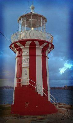 Sydney #Lighthouse - #Australia lighthouses.quenalbertini: Red & white - http://dennisharper.lnf.com/