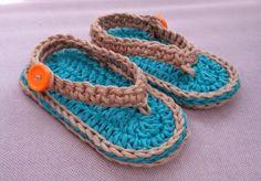 "Bizzy Crochet: NEW FREE Pattern!! ""Chubby Baby Flip-Flop Sandals"""