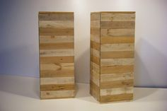 Zuilen/kastjes van pallethout