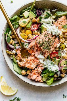 Salmon Recipes, Fish Recipes, Seafood Recipes, Cooking Recipes, Healthy Recipes, Salmon Meals, Plats Healthy, Healthy Fats, Healthy Eating