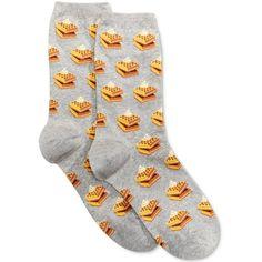 Hot Sox Women's Waffle Socks ($2.99) ❤ liked on Polyvore featuring intimates, hosiery, socks, sweatshirt grey, hot sox, hot sox socks, waffle socks, gray socks and grey socks