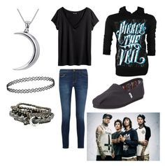 """""""Caraphernelia//Pierce The Veil"""" by sayandycanfly on Polyvore featuring Jac Vanek, H&M, Current/Elliott, TOMS and Carolina Glamour Collection"""