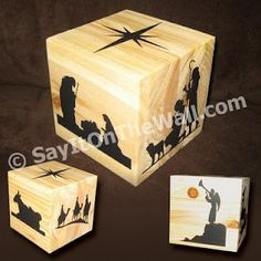 nativity cube (try other scripture stories for sacrament meeting)