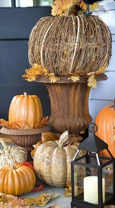 fall porch decor....