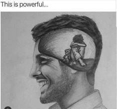 Funny pictures to draw thoughts ideas Sad Drawings, Dark Art Drawings, Pencil Art Drawings, Art Drawings Sketches, Broken Drawings, Drawing Feelings, Drawing Skills, Drawing Faces, Surreal Art