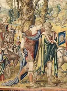 "Designed by Pieter Coecke van Aelst (Netherlandish, 1502–1550). Seven Deadly Sins: Sloth tapestry (detail), designed ca. 1532 - 1533, woven ca. 1548 - 1549. Woven under the direction of Willem de Pannemaker, Brussels. Kunsthistorisches Museum Wien, Kunstkammer. | This work is featured in ""Grand Design: Pieter Coecke van Aelst and Renaissance Tapestry,"" on view October 8, 2014–January 11, 2015. #coecke #tapestrytuesday #granddesign"