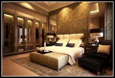 dormitorio con espejos