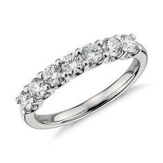 U-Prong Seven Stone Diamond Ring in Platinum (1 ct tw) | Blue Nile