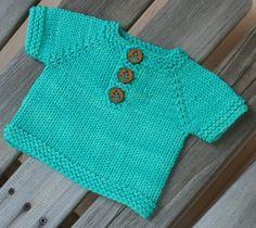 Keams by Taiga Hilliard - FREE knitting pattern for short-sleeved raglan baby sweater (hva)