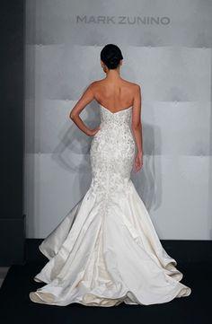 Bridal Gowns: Mark Zunino Mermaid Wedding Dress with Sweetheart Neckline and Dropped Waist Waistline
