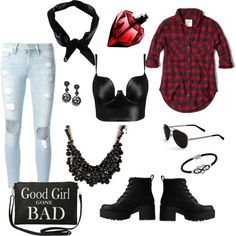 Good Girl Gone Bad by savannahs-outfits on Polyvore featuring polyvore fashion style Abercrombie & Fitch Posh Girl Frame Denim Lipstik Torrid Oscar de la Renta Jewel Exclusive sweet deluxe Calvin Klein Boohoo
