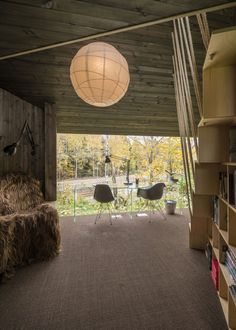 "awesome Unconventional Work Sanctuary: Modern ""Backyard Cottage"" in Oslo Oslo, Timber Cabin, Studios, Backyard Cottage, Interior Architecture, Interior Design, Modern Cottage, Cottage Living, Wooden Cabins"