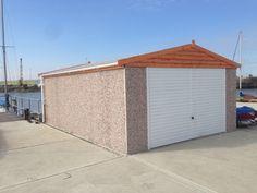 Standard double timber Apex concrete garage Concrete Garages, Prefab, Garage Doors, Shed, Outdoor Structures, Outdoor Decor, Home Decor, Decoration Home, Room Decor