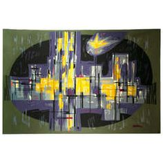 """Mid-Century Metropolis"""" Aubusson Tapestry 