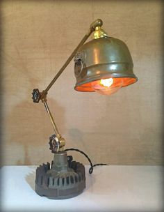 Lion's Den © Found object light sculpture by award winning artist Jay Lana #steampunk #industrial