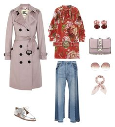 Pink strong by kristina-56 on Polyvore featuring мода, Gucci, Burberry, Frame, Loeffler Randall, Valentino, Christina Addison, Manipuri and Linda Farrow