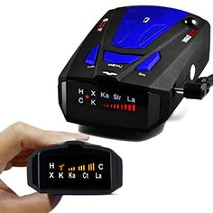Radar Detector, Voice Alert and Car Speed Alarm System with 360 Degree Detection, City/Highway Mode Radar Detectors for Cars (Blue). For product info go to:  https://www.caraccessoriesonlinemarket.com/radar-detector-voice-alert-and-car-speed-alarm-system-with-360-degree-detection-city-highway-mode-radar-detectors-for-cars-blue/