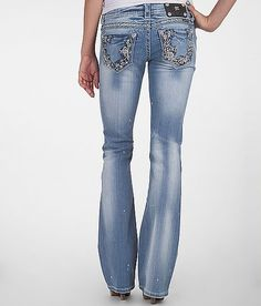 Miss Me Bleach Splatter Boot Stretch Jean