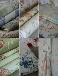 Biggie Best Fabrics - Divine! Modern French Country, French Country House, French Country Decorating, Textile Fabrics, Linens And Lace, Banting, Fabulous Fabrics, Vintage Shabby Chic, Fabric Wallpaper