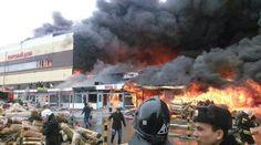 Mall fire in Kazan, Russia. 7 injured 200 evacuated. 3/11/15