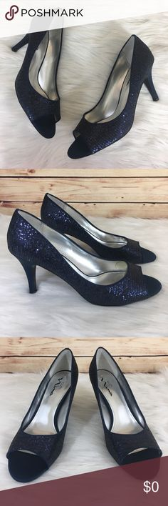 "👠 Touch of Nina sparkly blue heels ✨Newly listed items are priced to move.. please help me clear out my actual closet 😉  Preloved / Touch of Nina sparkly blue heels Size US 10/Euro 40, fits true to size Slip on closure, has toe comfort pads stuck inside Heel height: 3.5"" *Shoes show wear (may have dirt, scuffs, scratches, rubbing) *Comes without shoebox but will be packaged in a usps shipping box.  ✨Build a bundle with all your likes and use the automatic bundle discount -or- make me a…"