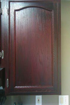Stain color minwax bombay mahogany this is what i 39 m for Bombay mahogany kitchen cabinets