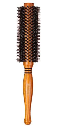 YUNAI Professional Rolling Comb Natural Boar Bristles Hair Brush Round Comb Hair Salon Comb Twill Hair curling Comb Hair Dryer Brush 185inch -- Want additional info? Click on the image.