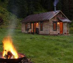 The resort is called Dunton Hot Springs and it's in Colorado. It's an incredible little ghost town in an alpine alley with mountain views and a waterfall.  Best of all it features historic cabins to stay in–some tiny and others quite large.