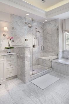 Bathroom a few ideas, bathroom remodel, master bathroom decor and master bathroom organization! Bathrooms could be beautiful too! From claw-foot tubs to shiny fixtures, these are the bathroom that inspire me probably the most. Bathroom Interior Design, Bathroom Styling, Bathroom Designs, Shower Designs, Master Bathroom Shower, Bathroom Showers, Minimal Bathroom, Dyi Bathroom, Master Bathrooms