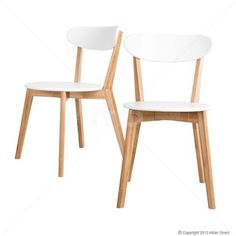 Set of 2 - Oslo Dining Chair - White 14% OFF | $189.00 - Milan Direct