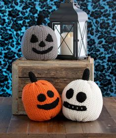 Three Little Pumpkins Free Crochet Pattern in Red Heart Yarns
