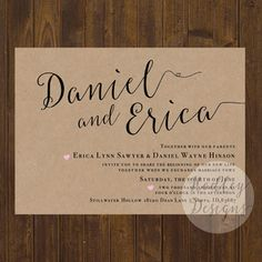 Affordable traditional wedding invitations