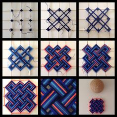 Ojos Huichol Yarn Crafts, Diy And Crafts, Arts And Crafts, Paper Crafts, God's Eye Craft, Gods Eye, Thread Art, Loom Weaving, Diy Art