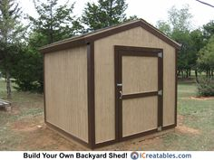 8x8 Backyard Shed Plan built in Oklahoma! check out this and other plans at icreatables.com https://www.icreatables.com/sheds/shed-plans.html