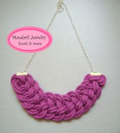 Pink csomózott nyaklánc by http://www.breslo.hu/mandaril/shop
