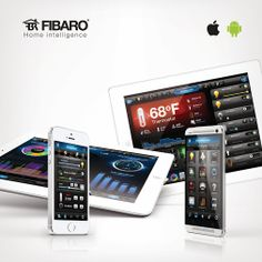 The Fibaro Apps for iPhone, iPad, Android. Home Automation, Smart Home, Gadgets, Ipad, Android, Technology, Iphone, Cool Stuff, Building