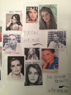 "lisa eldridge's brow shrine. ""think brooke"""