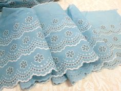 Vintage Trim Flocked Fabric Notions Trim By The by VintageLinens
