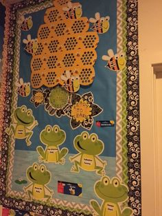 A fun Frogs and Bees bulletin board from Educational & Fun in Reading, PA.