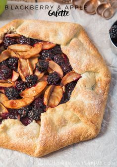 Juicy blackberries and tender apples are encased in a rich, buttery pastry to create this truly amazing Blackberry and Apple Galette. So good you won't want to share!