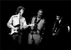 Eric Clapton, Muddy Waters and Johnny Winter