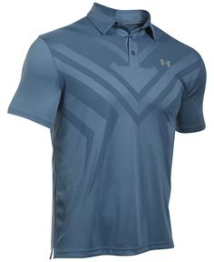 A handsome tonal chevron at the front adds performance to this stylish Under Armour polo, featuring breathable ArmourVent mesh and anti-pick fabric that looks great longer. Golf 6, Mens Golf Outfit, Mens Golf Fashion, Golf Wear, Ralph Lauren, Ladies Golf, Women Golf, Under Armour Men, Sport Wear
